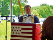 Gene Pisasale as Colonel Alexander Hamilton at the Battle of Brandywine Reenactment 2014 - Opening Remarks