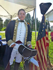 Gene Pisasale as Colonel Alexander Hamilton at the Battle of Brandywine Reenactment 2014